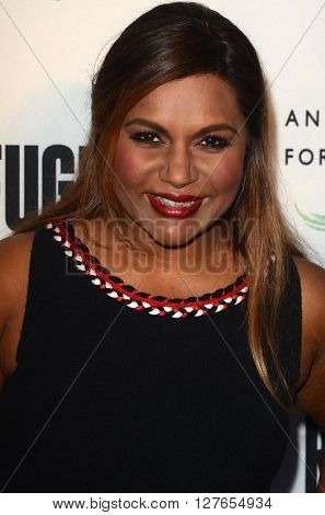 LOS ANGELES - APR 21:  Mindy Kaling at the Annenberg Space for Photography presents REFUGEE at the Annenberg Space for Photography on April 21, 2016 in Century City, CA