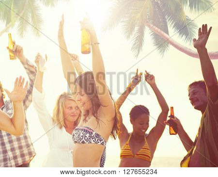 Summer Beach Party Freedom Concept