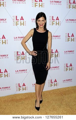 LOS ANGELES - APR 21:  Perrey Reeves at the LA Family Housing Awards at the The Lot on April 21, 2016 in Los Angeles, CA