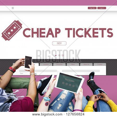 Tickets Promotion Cheap Travel Cost Concept