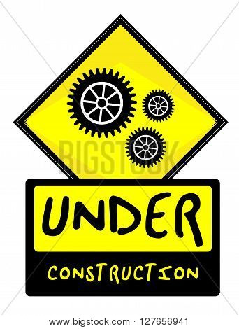 Under Construction sign .eps10 editable vector illustration design