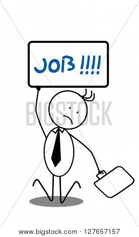 Jobless businessman .eps10 editable vector illustration design