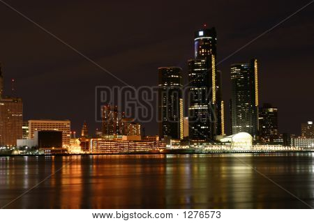 Luces de Detroit de Windsor Ontario