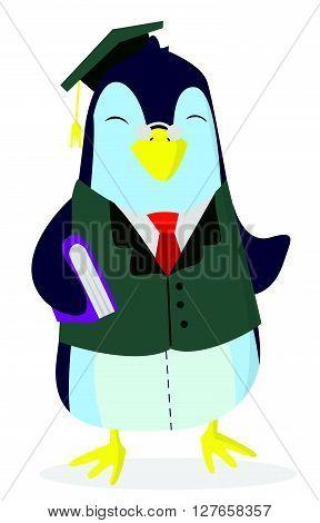Penguin Study .eps10 editable vector illustration design