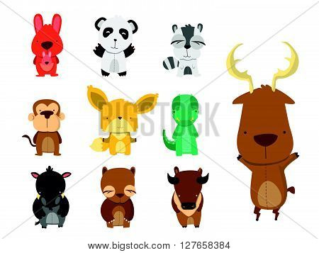 Forest Animal Set .eps10 editable vector illustration design