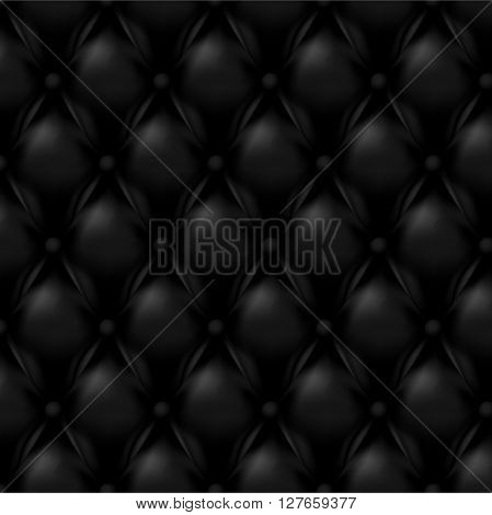 Vector Leather background with buttons. Black wallpapers.