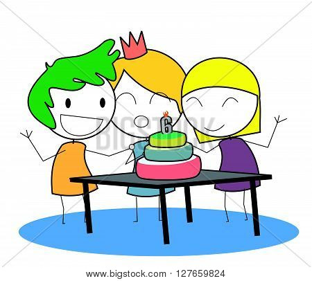 Kid birthday .eps10 editable vector illustration design
