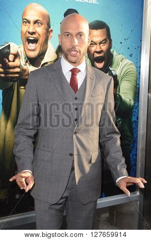 LOS ANGELES - APR 21:  Keegan-Michael Key at the Keanu Los Angeles Premiere at the ArcLight Hollywood Theaters on April 21, 2016 in Los Angeles, CA