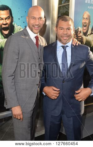LOS ANGELES - APR 21:  Keegan-Michael Key, Jordan Peele at the Keanu Los Angeles Premiere at the ArcLight Hollywood Theaters on April 21, 2016 in Los Angeles, CA