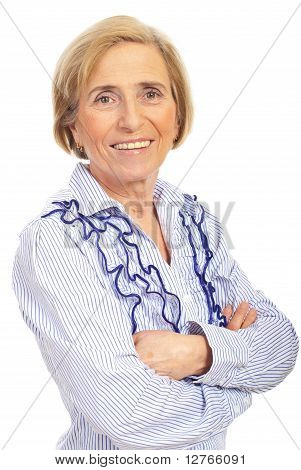 Portrait Of Beauty Senior Woman