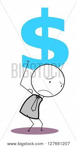 Businessman dollar .eps10 editable vector illustration design