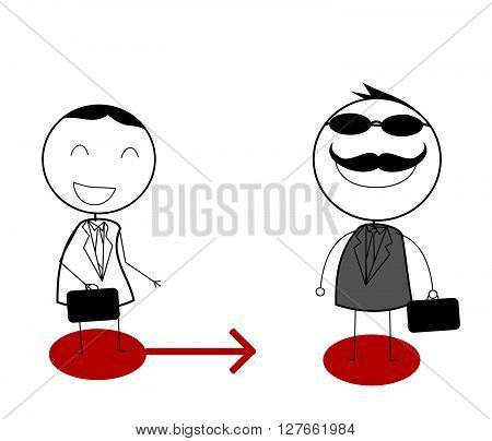 Business interaction .eps10 editable vector illustration design