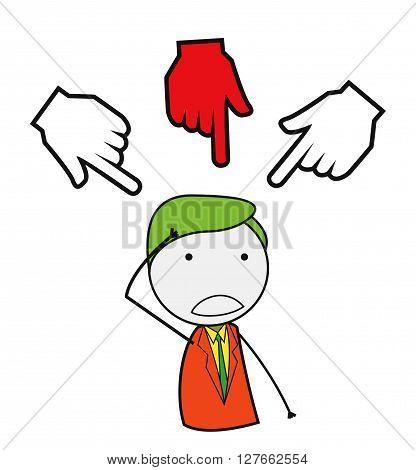 Businessman hand chosen .eps10 editable vector illustration design