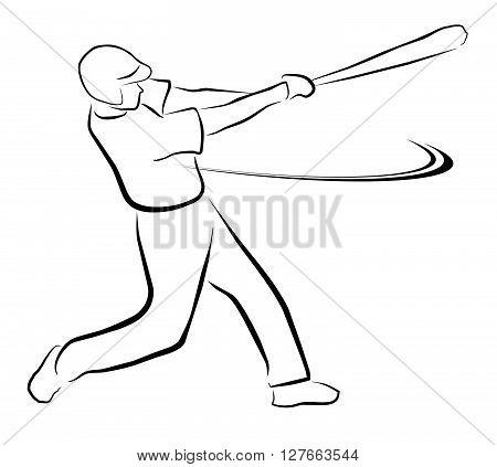 Baseball Illustration .eps10 editable vector illustration design