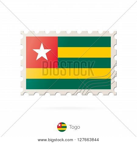 Postage Stamp With The Image Of Togo Flag.