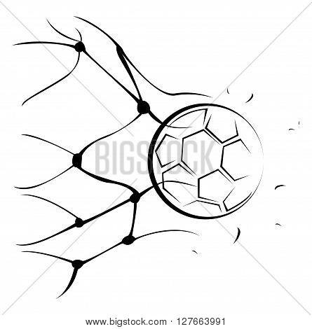 Foot Ball Goal .eps10 editable vector illustration design