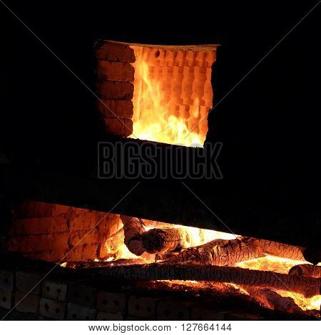 Brickwork, Firewood, Burning, Exhaust Fumes