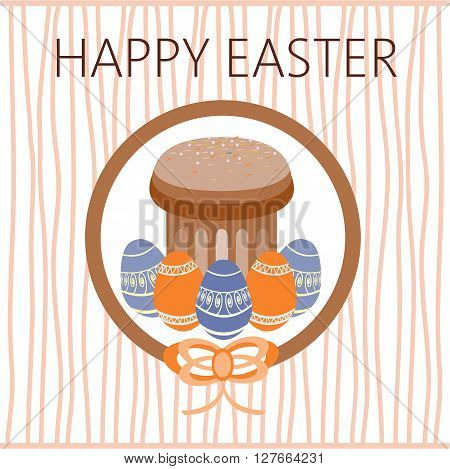 Happy Easter Card. Easter eggs. Plain Colored Easter Eggs. Digital background vector illustration.