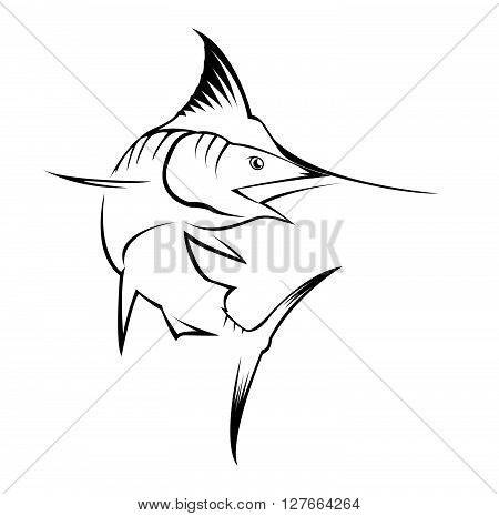 Marlin Fish .eps10 editable vector illustration design