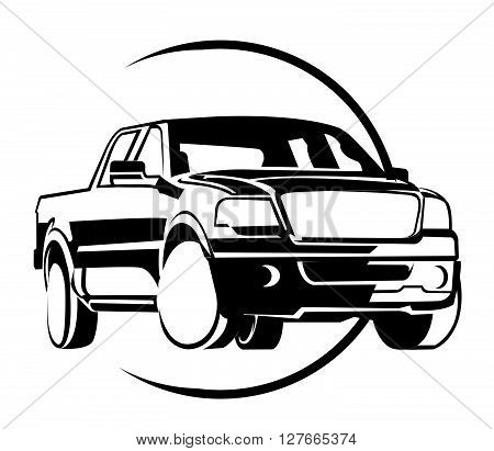 Mini Truck .eps10 editable vector illustration design