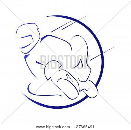 Moto Race Symbol.eps10 editable vector illustration design
