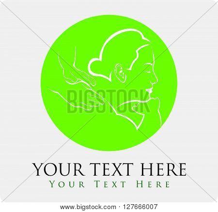 Massage therapy .eps10 editable vector illustration design