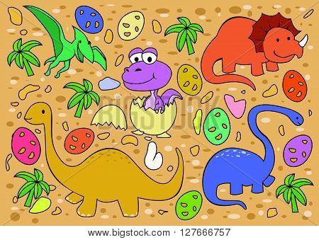 Dinosaur Collection .eps10 editable vector illustration design