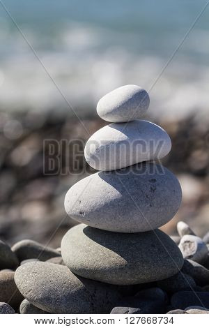 Zen Balancing Pebbles Stone Stack