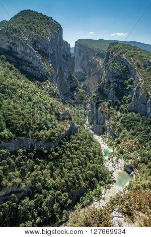 Goges du verdon (canyon of Verdon), France