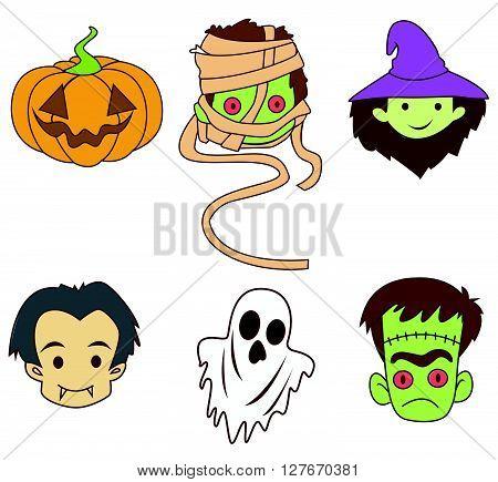 Halloween Banner  Object Collection.eps10 editable vector illustration design