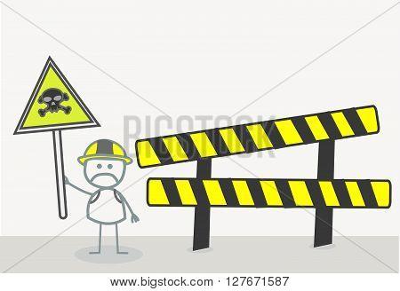 Danger Zone .eps10 editable vector illustration design