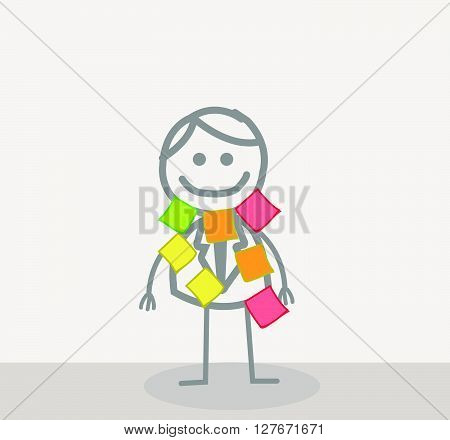 Task man .eps10 editable vector illustration design