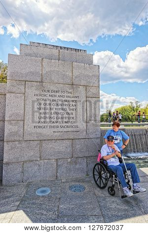 Veteran In National World War 2 Memorial