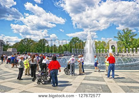War Veterans On National World War Second Memorial Atlantic Arch