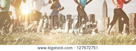 Running Jogging Outdoor Exercise Athlete Healthy Concept