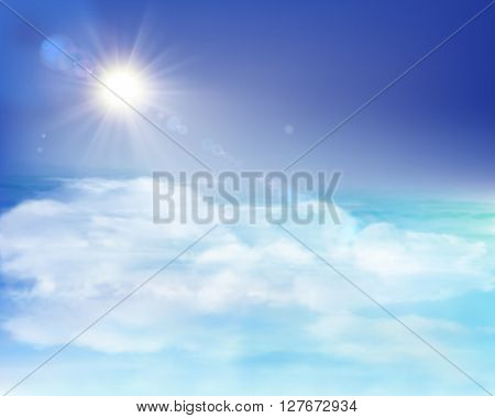 Rays of sunlight. Vector Illustration.