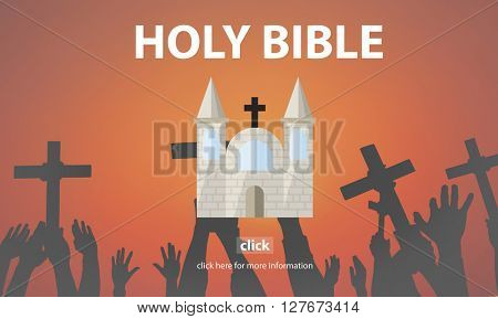 Holy Bible Pray Spiritual Wisdom Worship Christ Concept