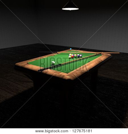 Billiard In Low Light