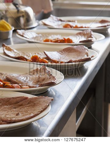 Fish Over Plates