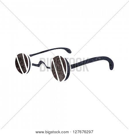 freehand drawn retro cartoon sunglasses