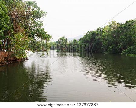 Ang Kaew Reservoir in Chiang mai university, Huay Kaew reservoir