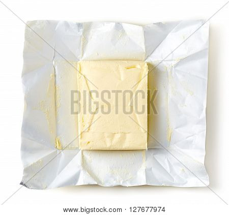 Butter Package On White Background