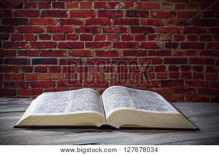Open book ,wall old