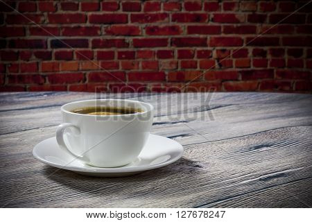 coffee on the background wall