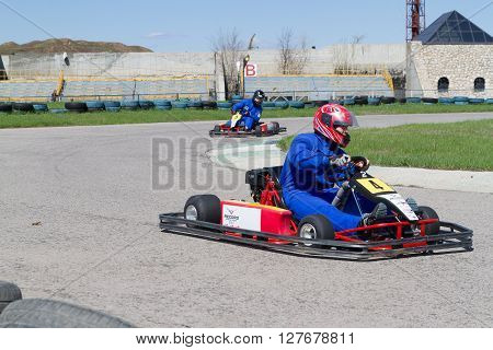 Young Pilots Compete At  Karting.