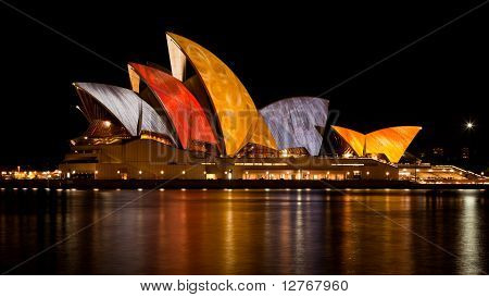 "Opera House During The ""vivid Sydney"" Festival - 20 June, 2010"
