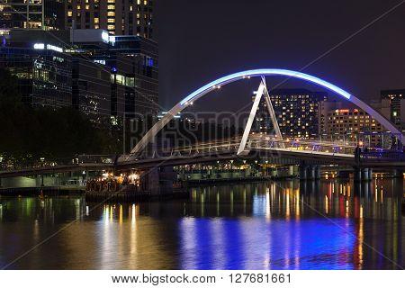 Southbank Footbridge At Night