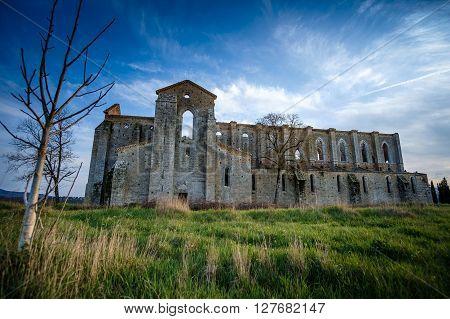 Cistercian Abbey Of San Galgano Near Chiusdino, Tuscany, Italy
