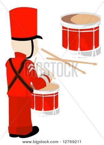 Toy Drummer - Vector