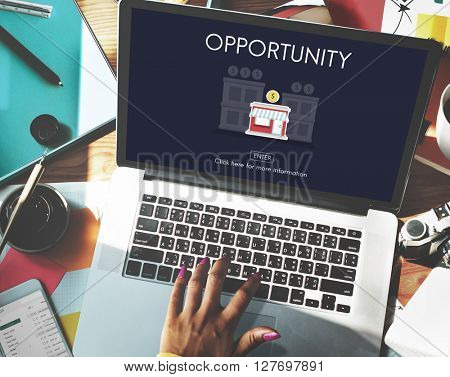 Opportunity Launch Startup New Business Concept